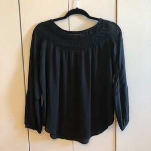 LOFT Black Lacy Blouse